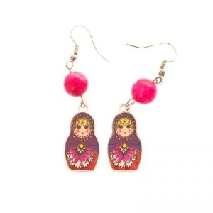 Colorful Matryoshka earrings