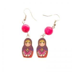 Colorful Matryoshka earrings