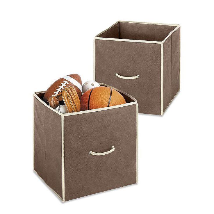 Whitmor 2-pk. Collapsible Storage Cubes, Brown