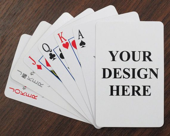 Personalized deck of playing cards game, 54 cards poker size, plastic coated cards, monogrammed cards
