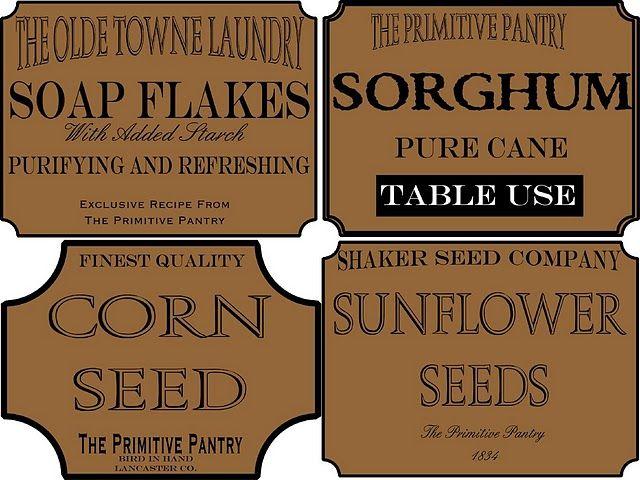 free printable primitive labels