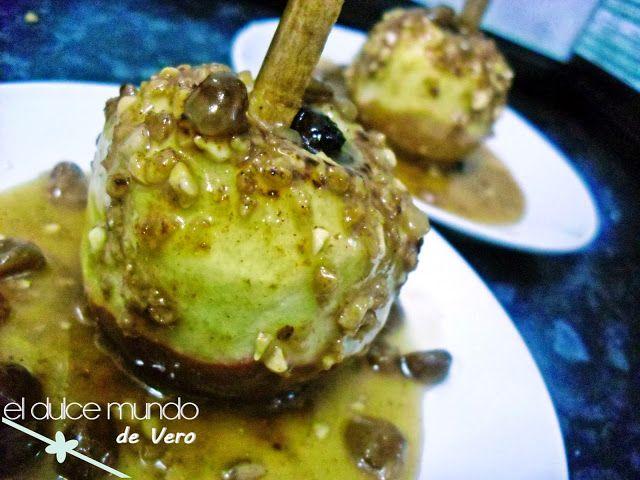 Dulce mundo de Vero: Manzanas asadas con miel y almendras