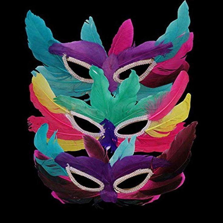 CHENGY Erwachsene Maske DIY Party Federmaske Sexy Frauen Dame Halloween Karneval...