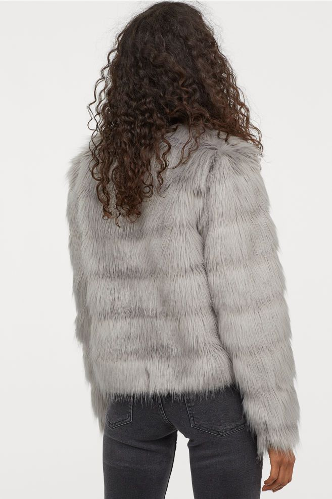 5dae581fc6d Short Faux Fur Jacket | Coats | Short faux fur jacket, Faux fur ...