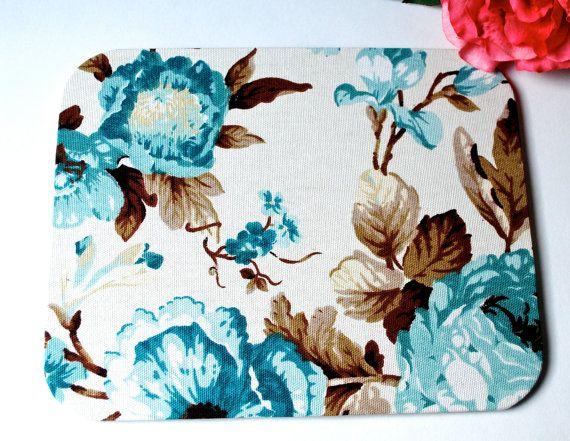 Mousepad Fleur Untersetzer Ablage handmade von Arsunica auf Etsy, €11.00
