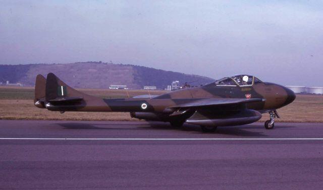 DeHavilland Vampire of the Rhodesian Air Force, 1970's
