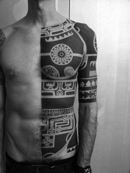 Solid black arm band tattoos meaning google search for Black tribal tattoo ink