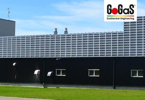 GoGas Solar-Luftsystem LUBI Wall: Die LUBI Wall weist einen der höchsten Wirkungsgrade aller vergleichbaren Systeme auf und bleibt das ganz Jahr über effizient. Weitere Informationen erhalten Sie auf www.gogas.com oder unter www.solar-luftkollektoren.com.