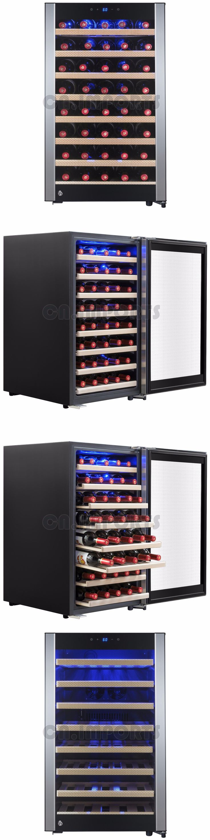 Wine Fridges and Cellars 177750: 52 Bottle Single Zone Freestanding Touch Control Compressor Wine Cooler Chiller -> BUY IT NOW ONLY: $519.99 on eBay!