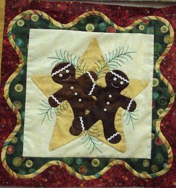 24 best quilts christmas applique images on Pinterest | Christmas ... : gingerbread man quilt - Adamdwight.com