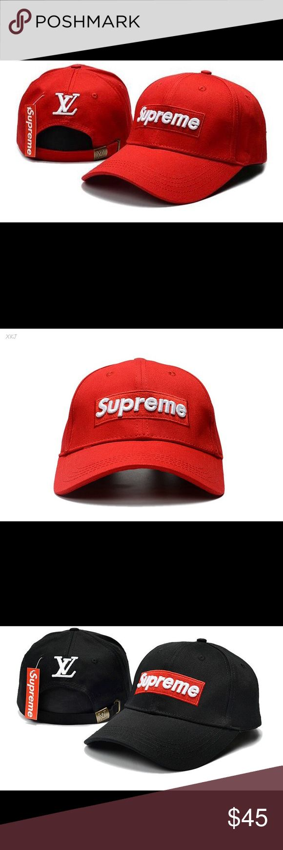 Supreme Baseball Hats Please message me which color you'd like? Red,White or Black? Thank You! Accessories Hats