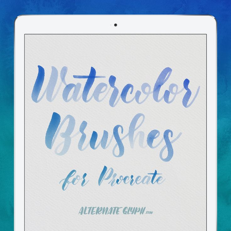 """I've spent countless hours trying to come up with the perfect recipe for realistic watercolor calligraphy in Procreate for iPad. These high quality brushes can be used for several different watercolor-effects. These brushes are compatible with the Procreate app and Apple Pencil for iPad Pro. Each brush is built with custom source artwork, so they are totally unique from other brushes out there. Premium Watercolor Brushes Bundle. You get 3 Brushes: The """"Rich"""" watercolor brush for..."""