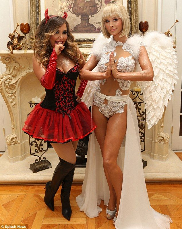 Diana Madison and Real Housewives star Joanna Krupa as sexy devil and angel @lydiasteevens