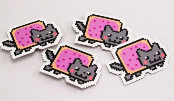 35 Contoh Desain Sticker Sebagai Media Promosi yang Efektif - 34. Nyan Cat Stickers