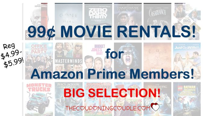 $0.99 Movie Rental Weekend at Amazon!   $0.99 Movie Rental Weekend at Amazon! [adrotate banner= '51']What a great weekend for a movie night! Head to Amazon Instant Video to check out the $0.99 Movie Rental Weekend. Choose from 30movies for only $0.99 each! That is cheaper than running to find that red box somewhere plus...  Click the link below to get all of the details ► http://www.thecouponingcouple.com/0-99-movie-rental-weekend-amazon/ #Coupons #Coup