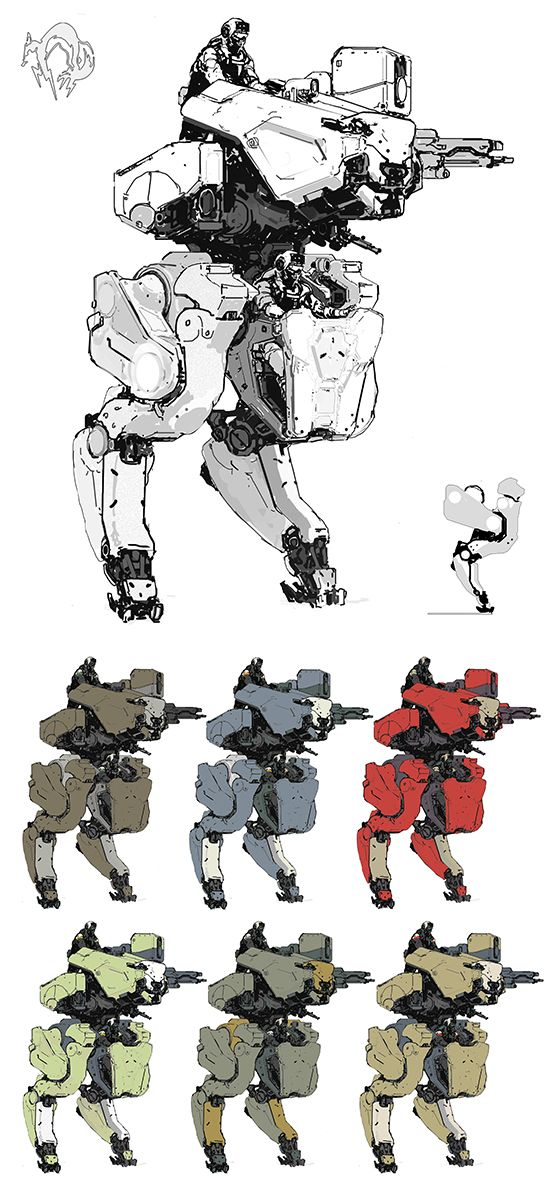 "///AjTron, ""Metal Gear Roo"" Concept art for Metal Gear..."