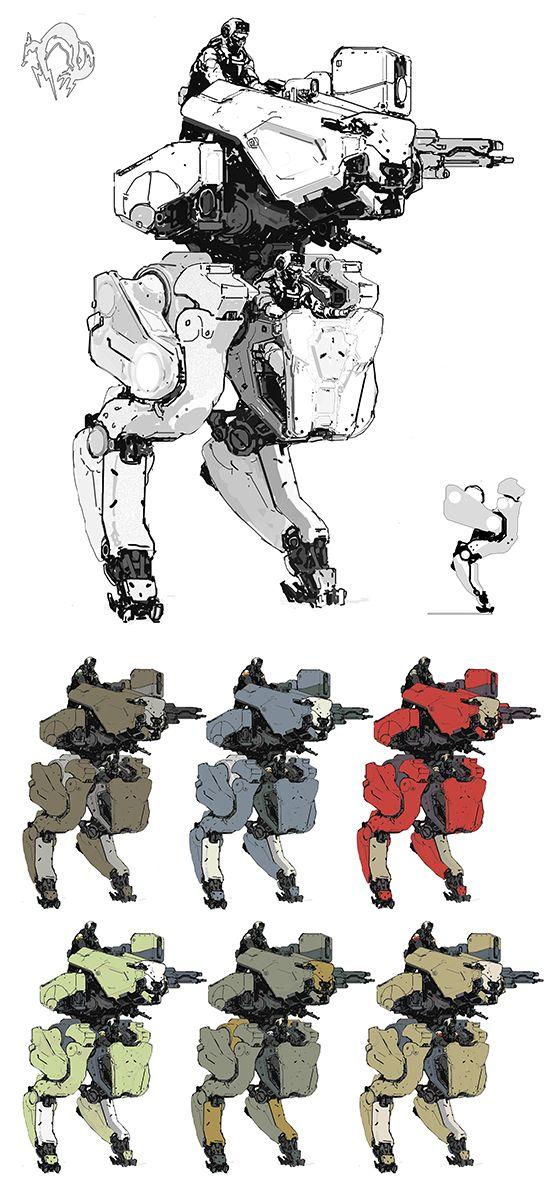 "RETYPE, ajtron: ""Metal Gear Roo"" Concept art for Metal..."