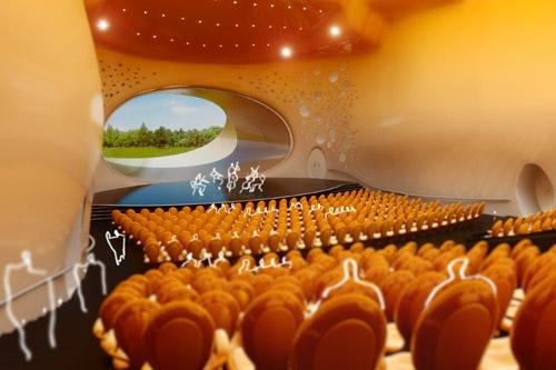 Jan Kaplicky - Concert hall - Interior 2