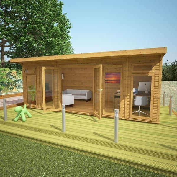 Avon 6m x 3m Insulated Garden Room -http://www.sheds.co.uk/log-cabins/insulated-garden-rooms/avon-6m-x-3m-insulated-garden-room.html