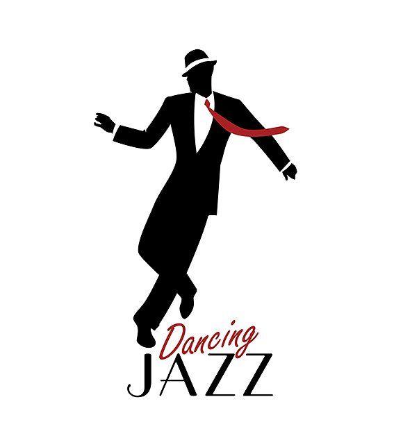 Elegant man dancing Jazz III by La Inspiratriz on @creativemarket