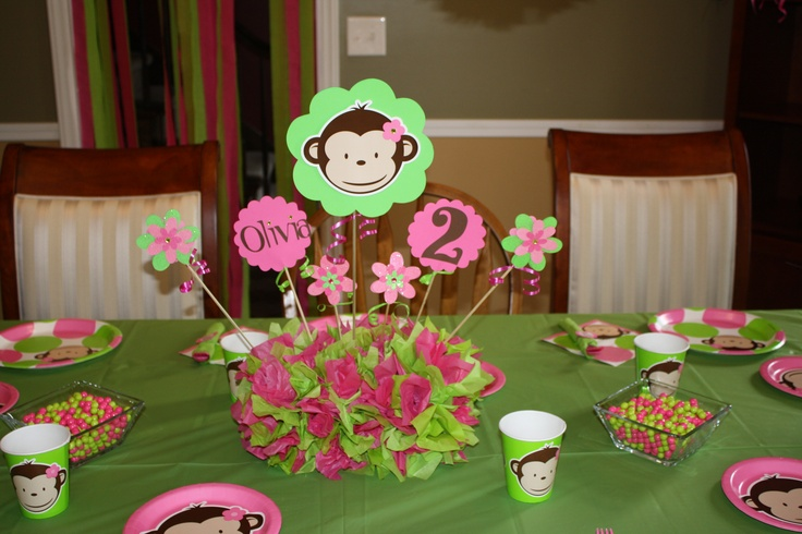 Best monkey baby shower decorations images on pinterest