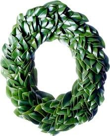 Fresh All Green Magnolia Oval Christmas Wreath www.wellappointedhouse.com