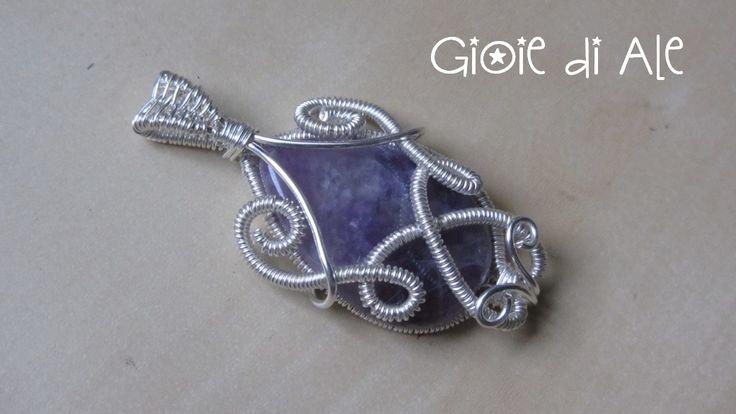 Rame argentato ed ametista #gioiediale #lemaddine #lemaddinecreano #bijouxhandmade #handmadejewelry #bijoux #gioie_di_ale #pendente #jewels #wire #ametista