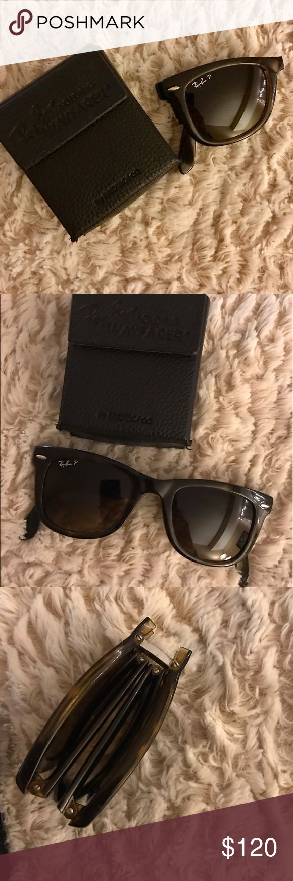 Folding Ray Ban wayfarer ❗️Polarized Polarized, in amazing condition Ray-Ban Accessories Sunglasses