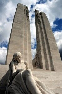 Soldiers memorialized by underground carvings - The Canadian National Vimy Memorial site in France is one of the most prominent World War I memorials, with this one commemorating 11,169 men