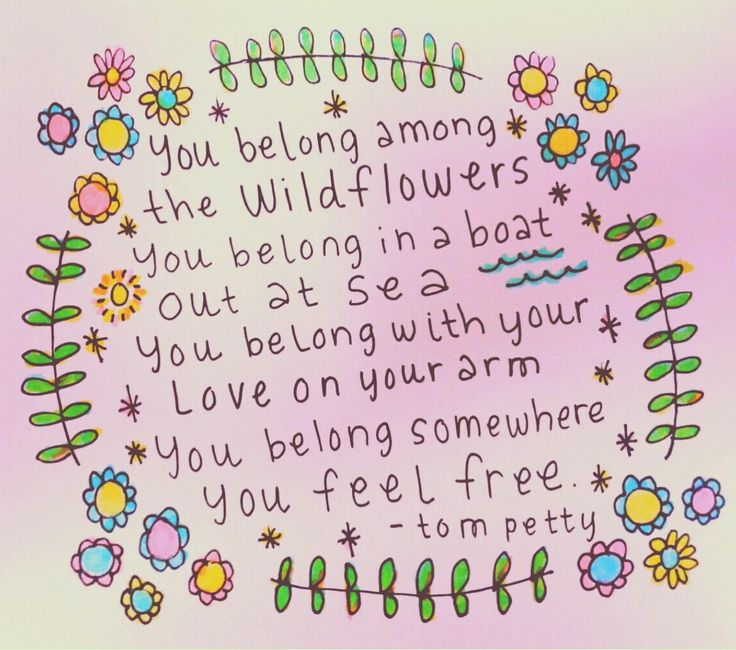 peaceowlforest:  wildflowers - tom petty