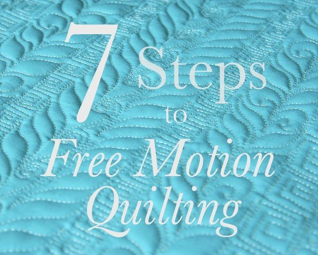 Seven Steps to Free Motion Quilting -- I love the rope border Lori Kennedy has done on this piece