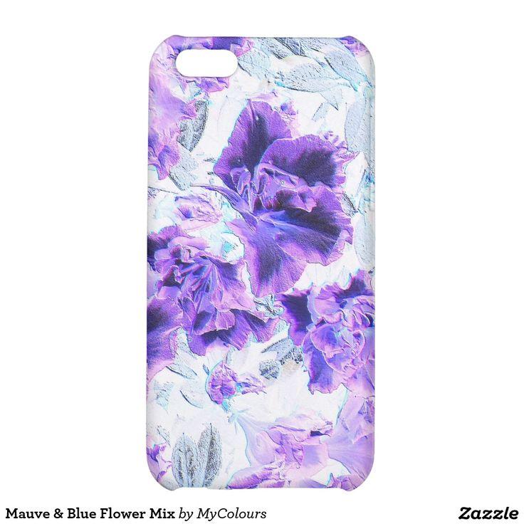 Mauve & Blue Flower Mix iPhone 5C Covers