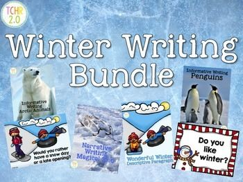 This bundle contains 6 different writing units that can be used during the winter season.Informative Writing: Arctic AnimalsThis product will guide your children as they research an Arctic animal of their choice. It contains pages they can use to take notes and write a final copy.