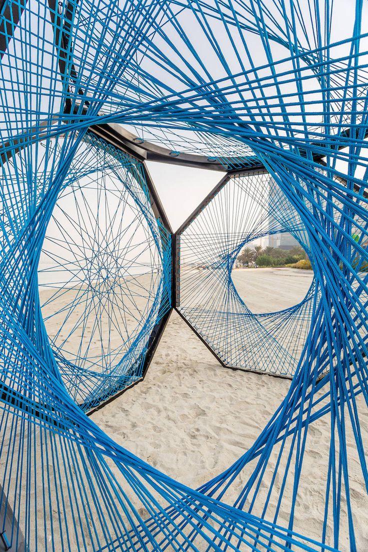 Yaroof Cube With Ropes Installation – Fubiz Media