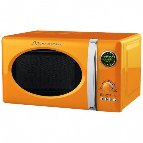 SchaubLorenz Design-Retro-Mikrowelle, orange [1/2]