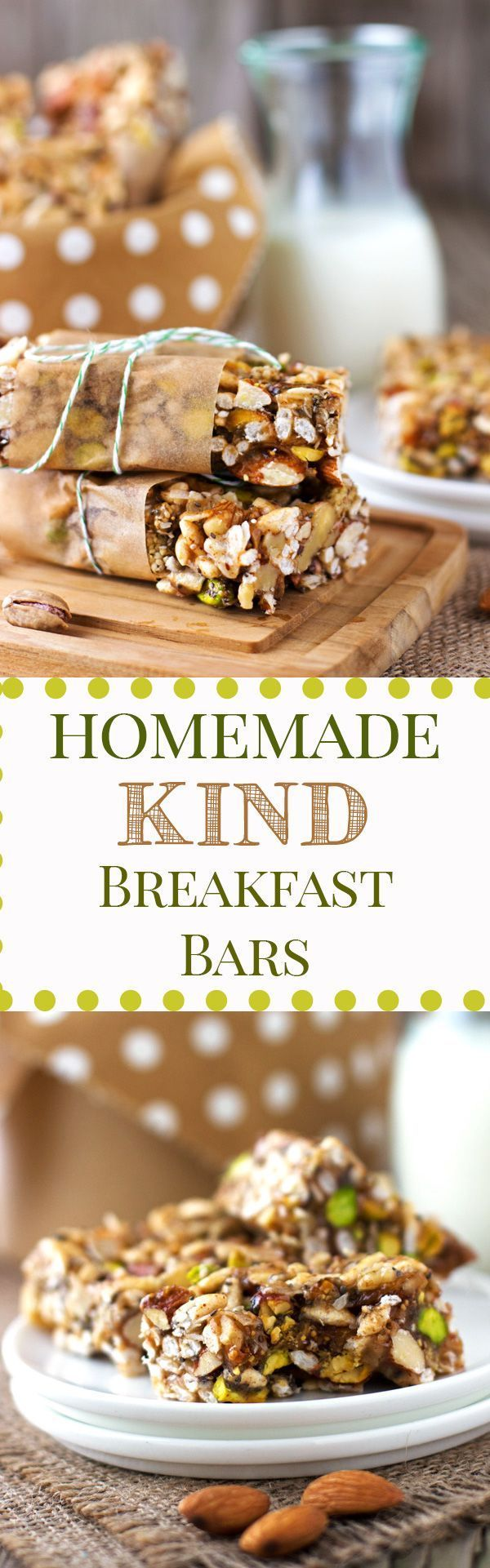 "Homemade ""Kind"" Breakfast Bars : Have you ever wanted to make your own version of ""Kind"" bar in your very own kitchen? This post gives you the formula to create VEGAN Homemade ""Kind"" Breakfast Bars."