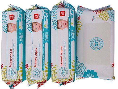 4 Pack - The Honest Company Wipes - 288 Wipes (4 Packages of 72 Ct) NewBorn, Kid, Child, Childern, Infant, Baby