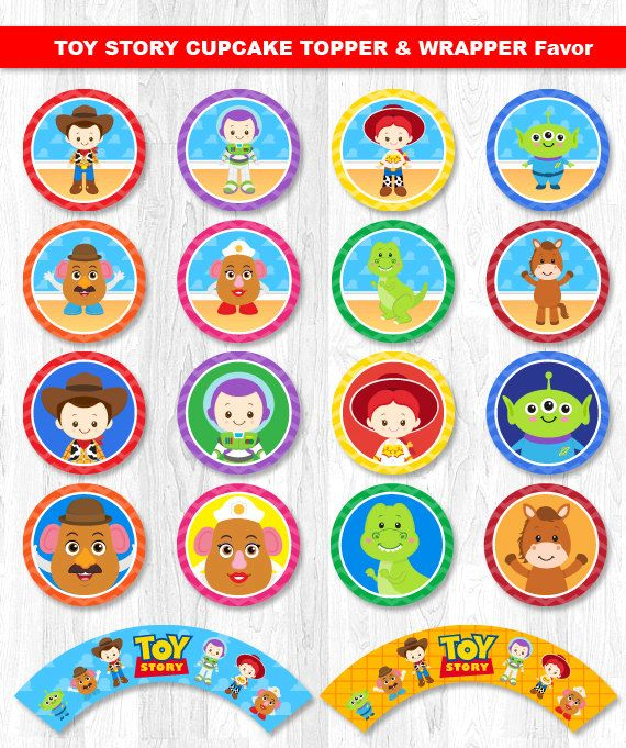 Toy Story Cupcake Toppers Toy Story Cupcake Wrappers by KidzParty