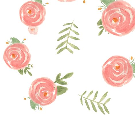 Soft Floral fabric by pacemadedesigns on Spoonflower - custom fabric