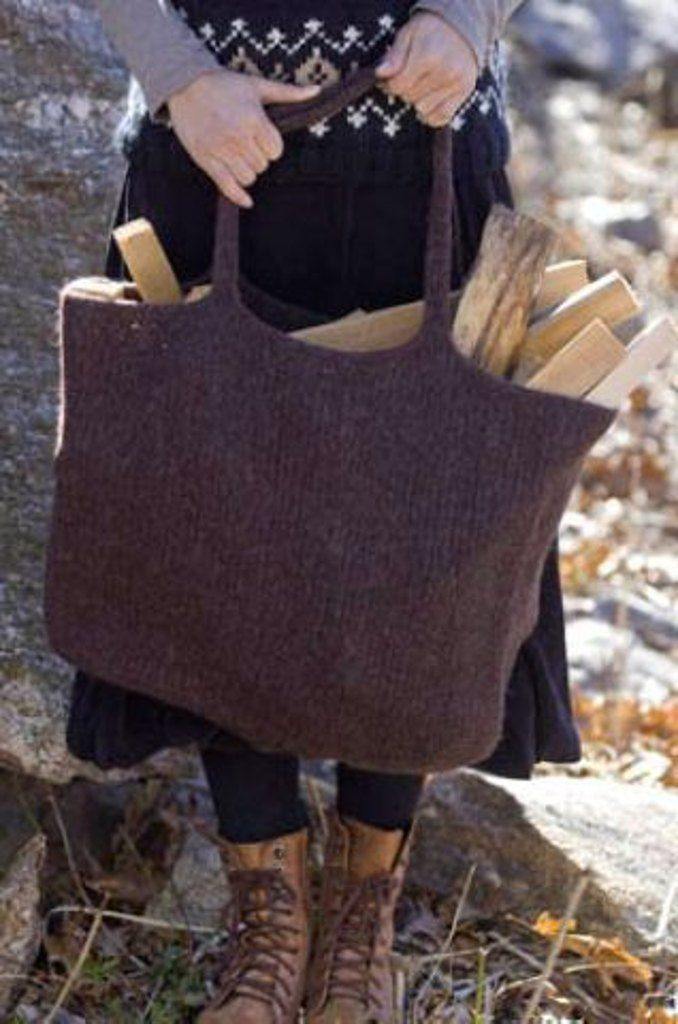 Felted Eco-Tote in Tahki Yarns Donegal Tweed. Discover more Patterns by Tahki Yarns at LoveKnitting. The world's largest range of knitting supplies - we stock patterns, yarn, needles and books from all of your favorite brands.
