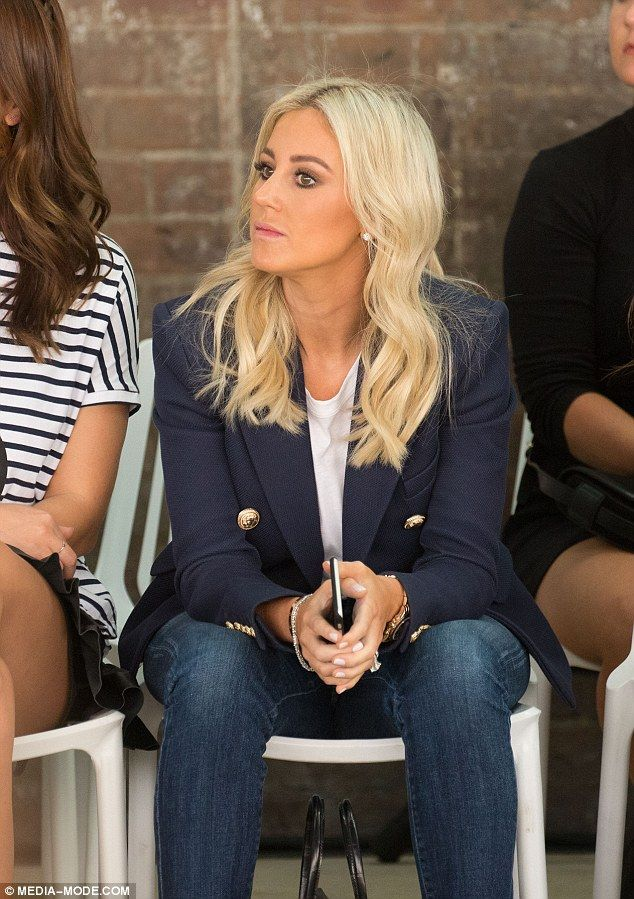 All suited up! Roxy Jacenko ditched the courtroom for front row seats at the Mercedes Benz...