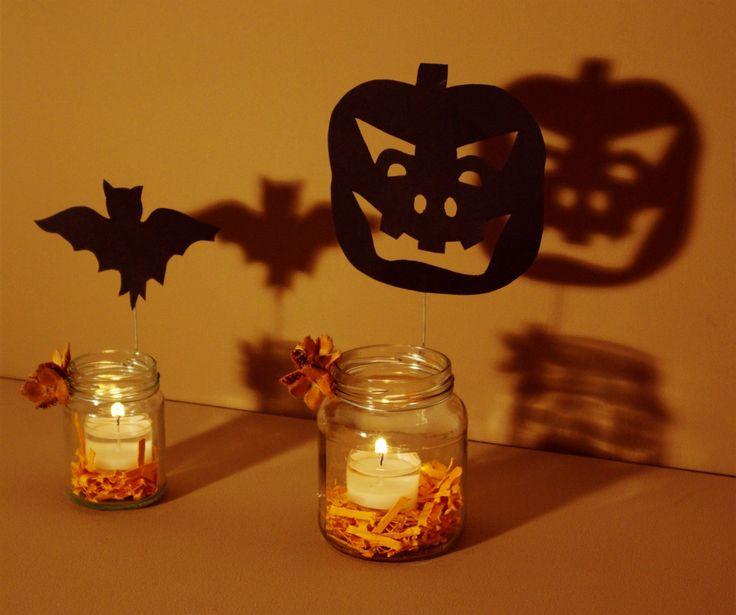 halloween deko basteln windlichter k rbis katze fledermaus. Black Bedroom Furniture Sets. Home Design Ideas