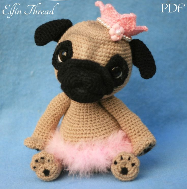 Pug En Amigurumi : 17 Best images about Elfin Thread Patterns in Etsy on ...