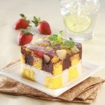 PUDING LAPIS FUIT CAKE Sajian Sedap