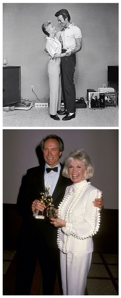 Clint Eastwood and Doris Day....now and then.