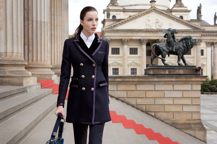Fay City Diaries features the Women's Fall - Winter 2013/14 collection with the seductive backdrop of Berlin. Double-breasted coat. http://www.fay.com/it/city-diaries/berlino?country=it