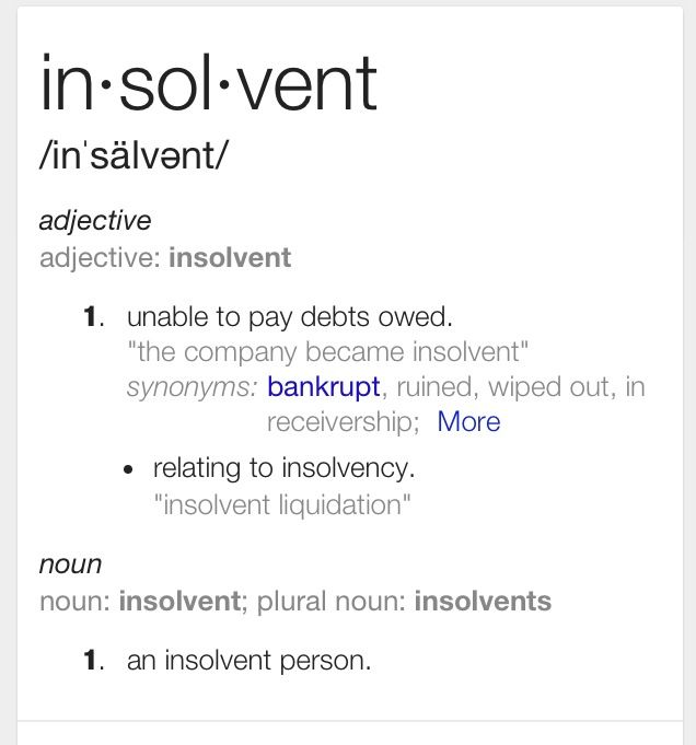 Insolvent /