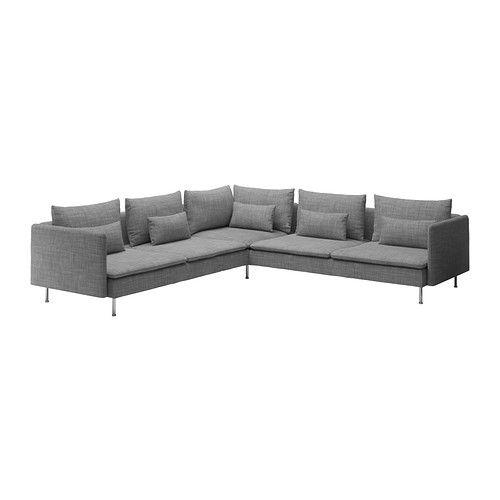 SÖDERHAMN Hörnsoffa - Isunda grå  - IKEA