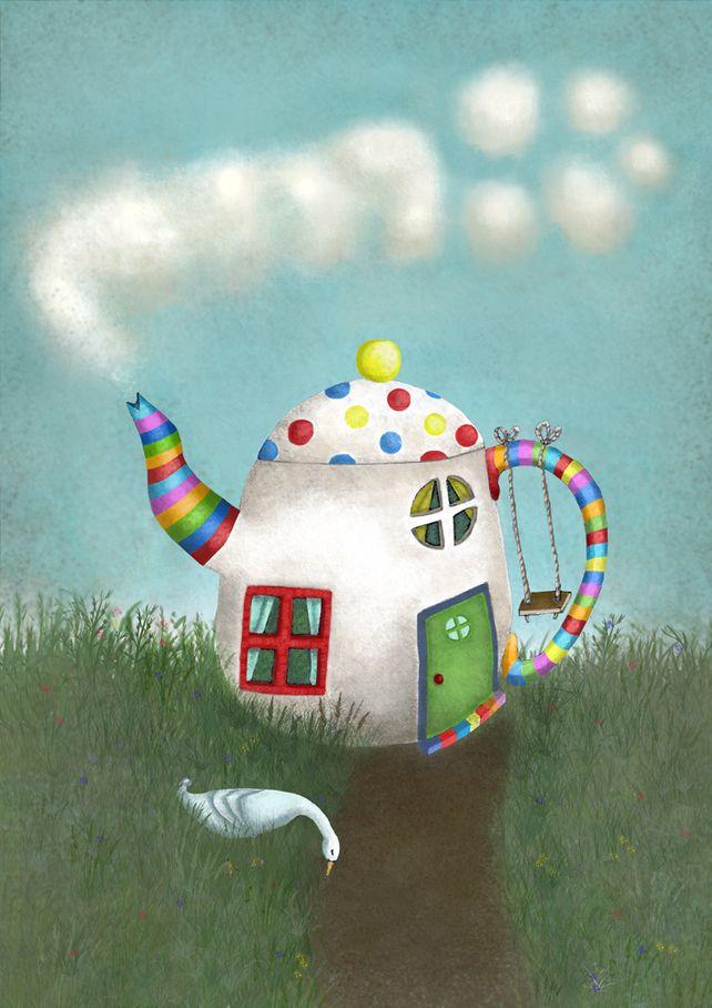 Teapot House- print £7.50