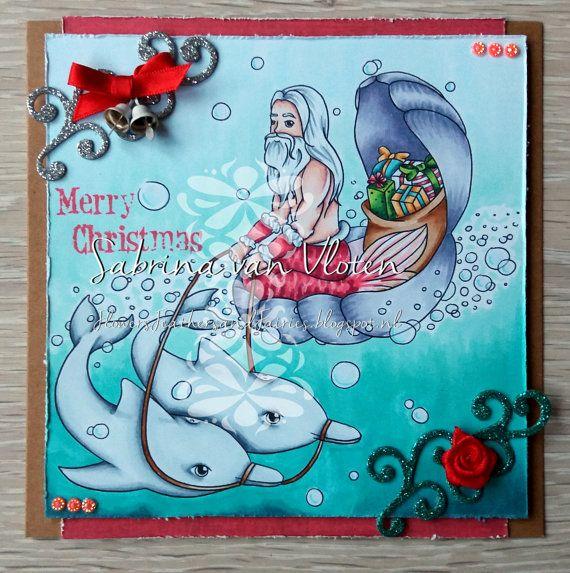 Christmas Under the Sea - Digi Stamp JPEG PNG